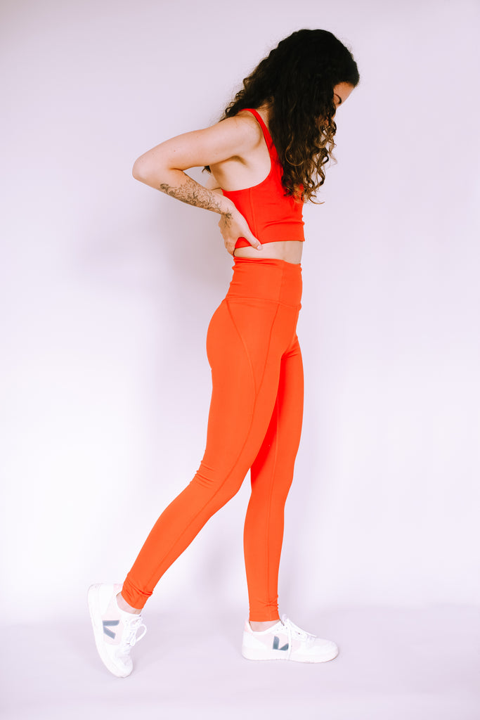HIGH RISE FULL LENGTH RECYCLED COMPRESSION LEGGINGS DAYBREAK