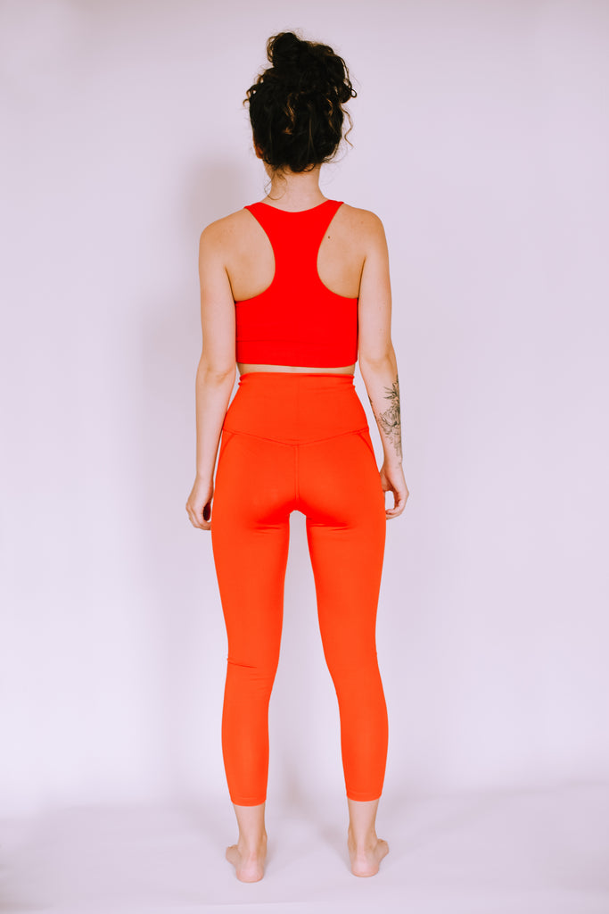 HIGH RISE RECYCLED COMPRESSION CROPPED 7/8 LEGGINGS DAYBREAK