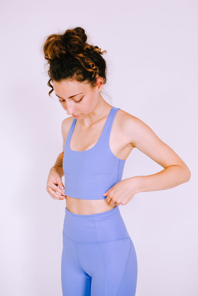 RECYCLED PALOMA SPORTS BRA PERIWINKLE