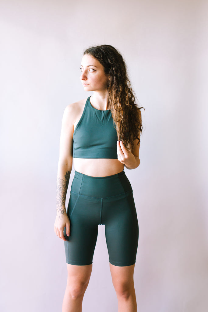 RECYCLED TOPANGA SPORTS BRA MOSS