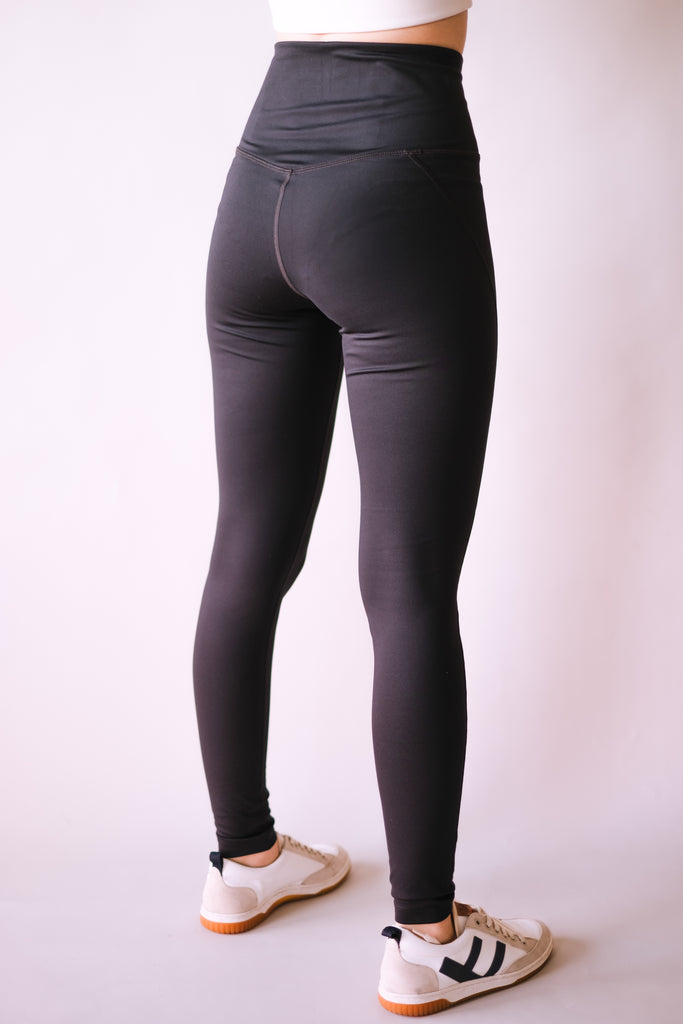HIGH RISE FULL LENGTH RECYCLED COMPRESSION LEGGINGS BLACK