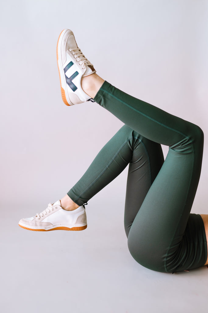 HIGH RISE FULL LENGTH RECYCLED COMPRESSION LEGGINGS MOSS