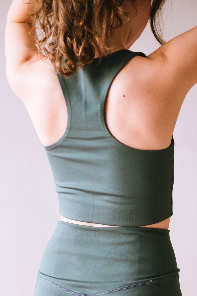 RECYCLED PALOMA SPORTS BRA MOSS