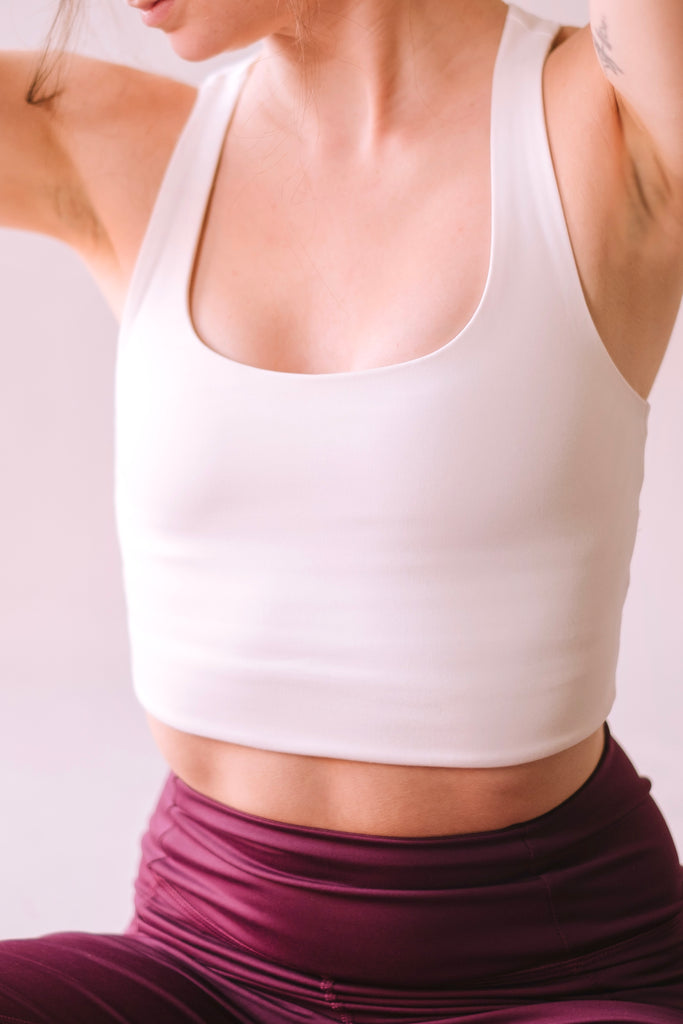 RECYCLED PALOMA SPORTS BRA IVORY