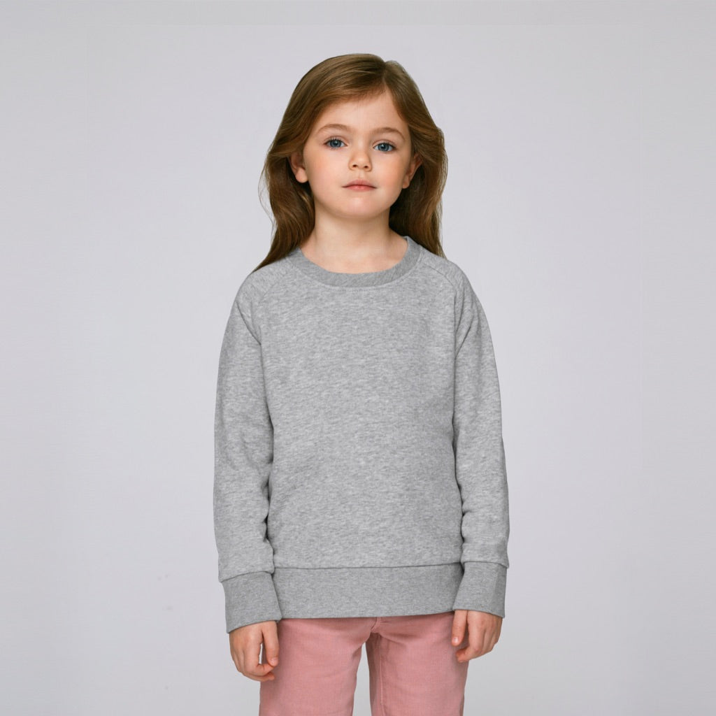 Kids Organic Sweatshirt Heather Grey