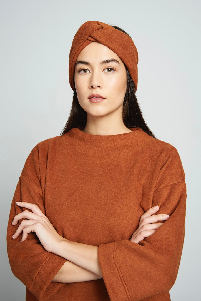 BRICK ORGANIC FLEECE HEADBAND