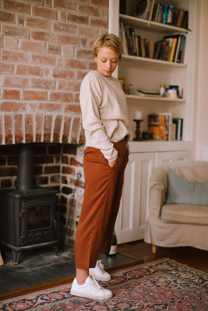 CROPPED CULOTTES IN CACAO