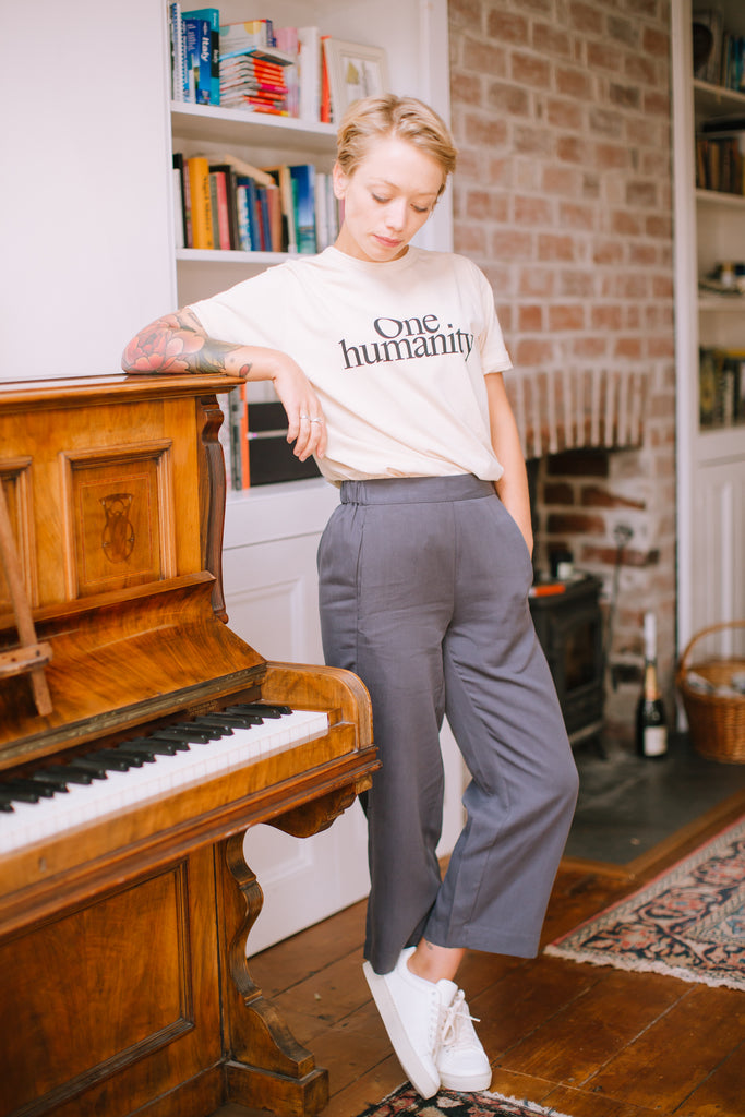 CROPPED CULOTTES IN ANTHRA