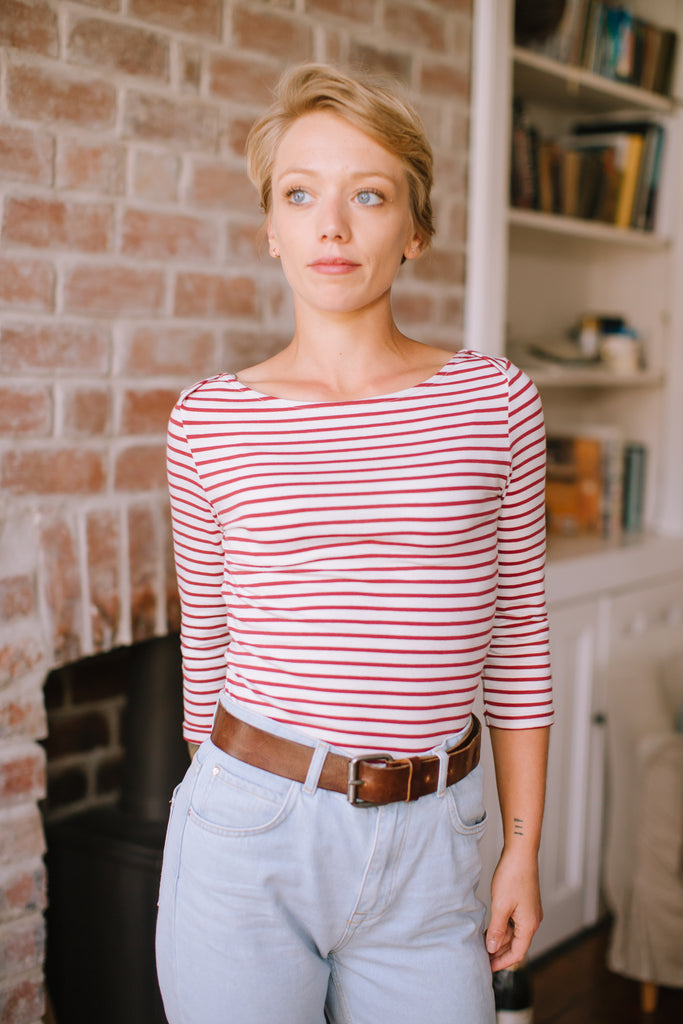 ROSEWOOD STRIPED TOP