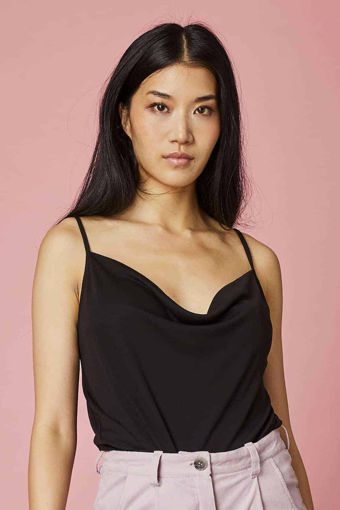 HELEN SLIP TOP BLACK