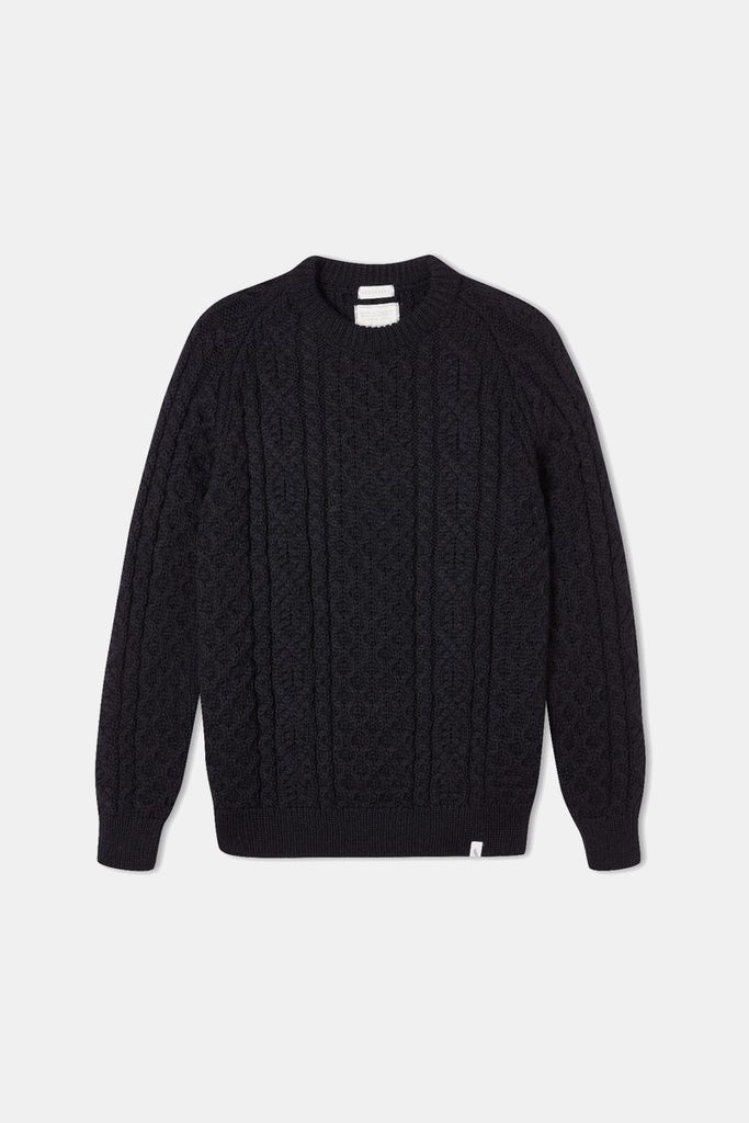 HUDSON WOOL JUMPER NAVY