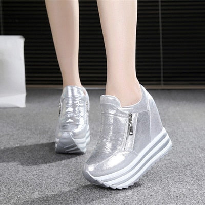 Women's High Wedges Sneakers – RightfulWay