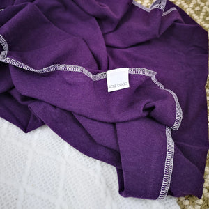 Plate Simple, Jersey '' Violet '' (bambou, coton)