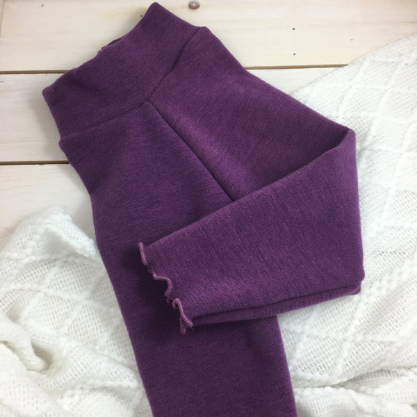 Leggings Bumby « Grape jelly » (Ruffled)