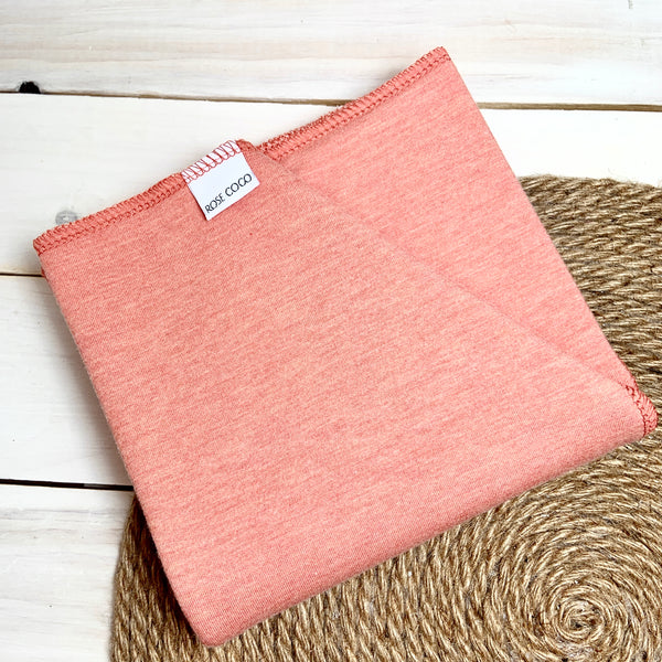 Couche Plate Coco 3/4 «Corail» (French Terry de Bambou/coton extensible)