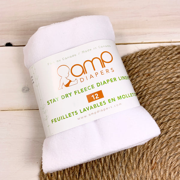 Feuillets lavables en molleton «AMP Diapers»