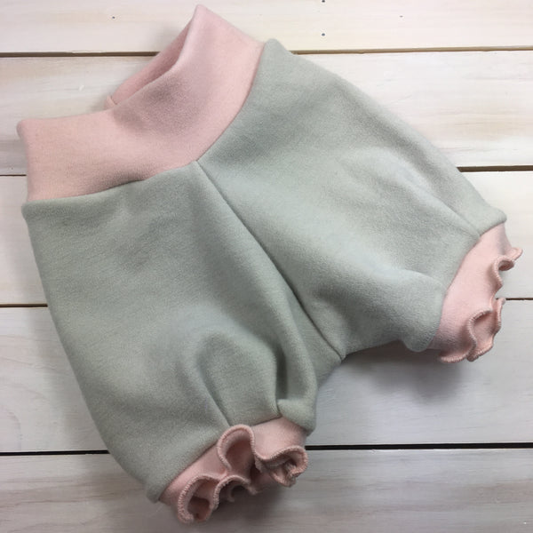Bloomers Bumby «Mist et baby pink»