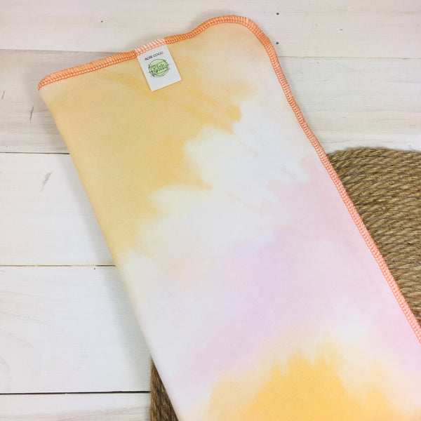 Couche plate Lapinou «Tie Dye Smooties» (French Terry de bambou et coton extensible)