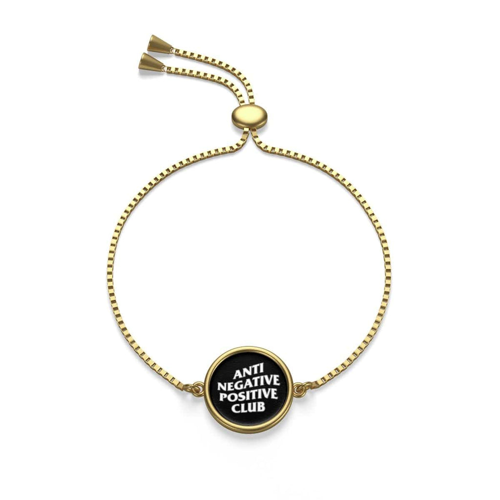 Anti Negative Gold Chain Bracelet - Kuratify - Hype Streetwear