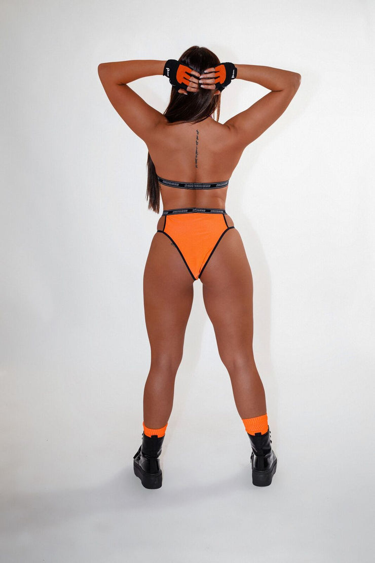 Orange Cut Out Briefs