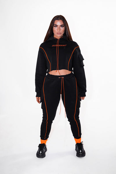 suxceedwomens suxceed womens black tracksuit
