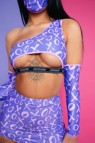 xo purple suxceed womens festival rave boob tube