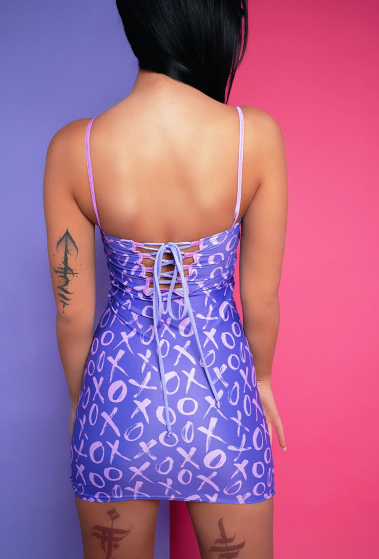 xo purple suxceed womens festival rave dress