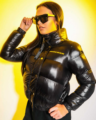 High Voltage Shine Puffer Jacket