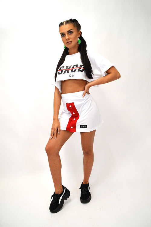 'SXCD' Two Piece Poppers Set (WHITE)