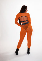Orange Holey Shh Outfit