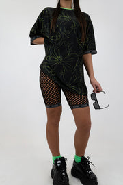 Black Netted Shorts