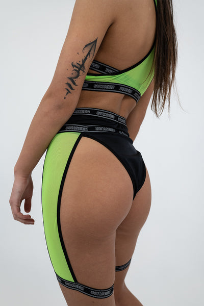 Lime Mesh Leg Harness