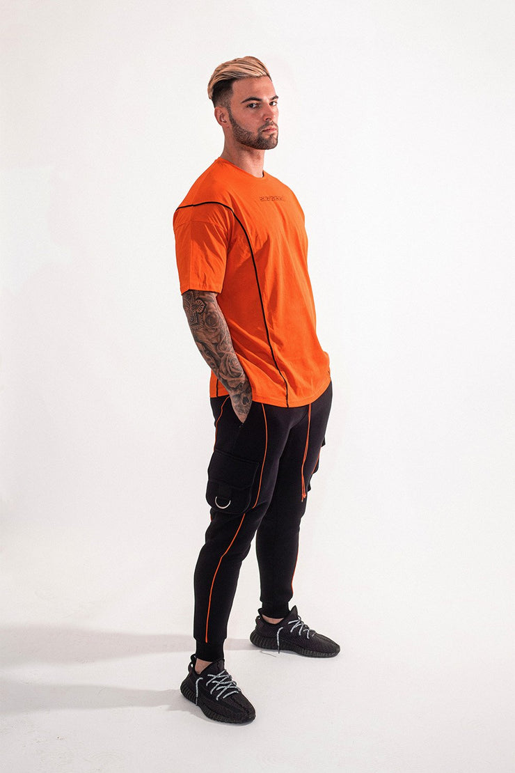 suxceed mens orange tshirt