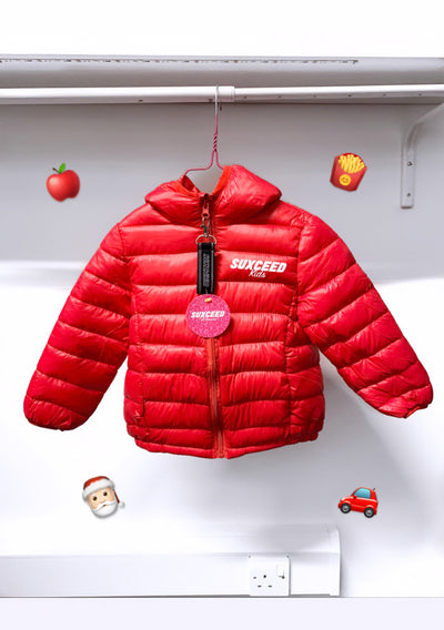 SuxceedKids Puffer Jacket (RED)