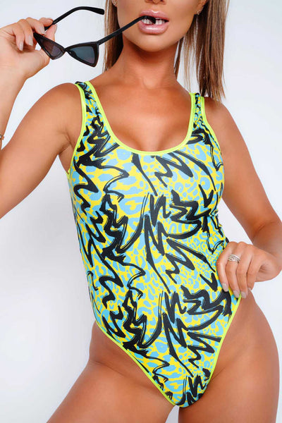 EXOTIC LACED SWIMSUIT