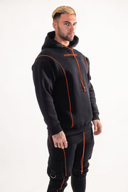 suxceed mens black hoody winter