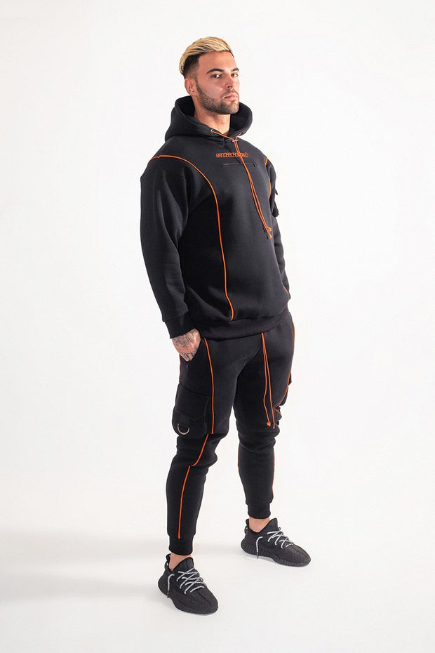 suxceed mens black tracksuit