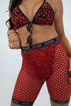 Red Netted Shorts
