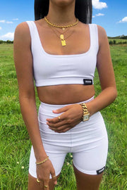 Lux Co-Ord Set (White)