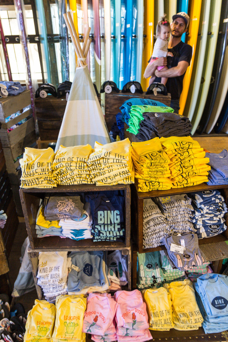 Seea Girls party at Bing Surf Shop