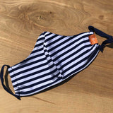 Face Mask - Navy Stripe