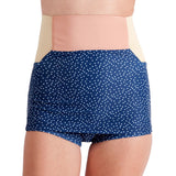 Leucadia Skirted High Waist Bottom - Navy Dot