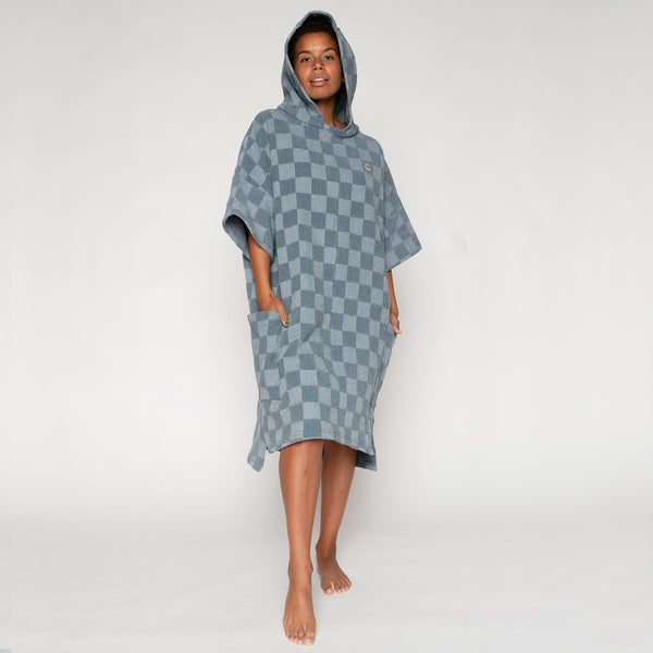 Muir Poncho - Recycled Denim