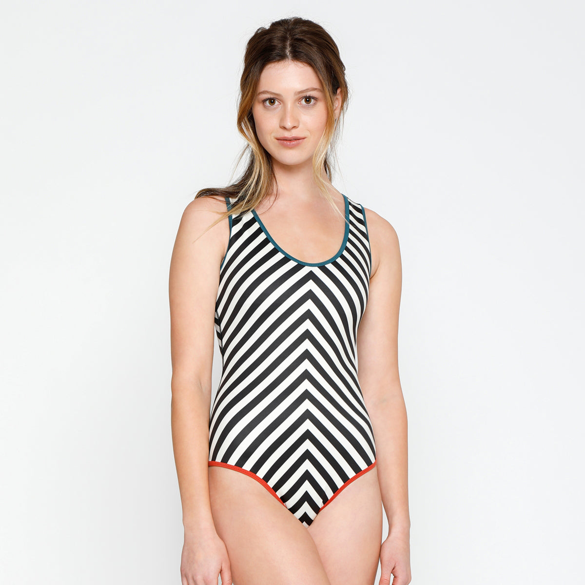 Kennedy One Piece - Ivory Stripe