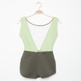 Lido One Piece - Olive Stripe