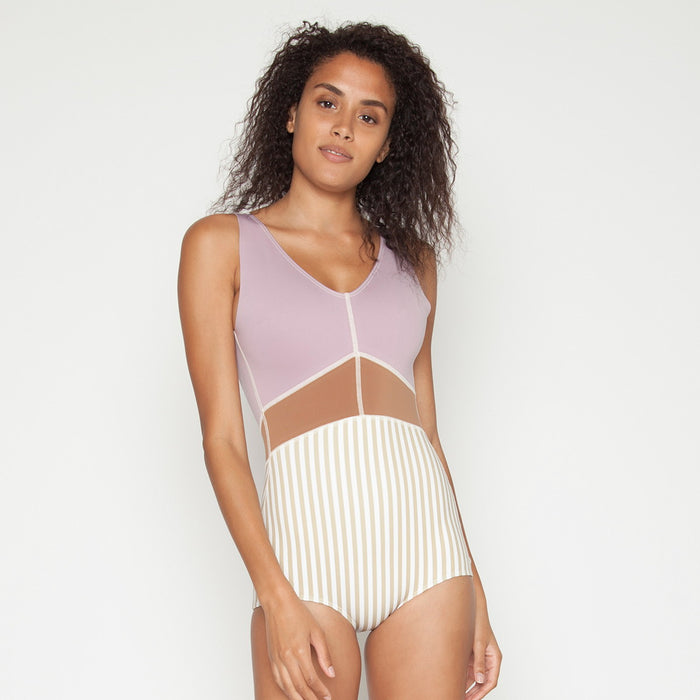Saili One Piece - Khaki Stripe