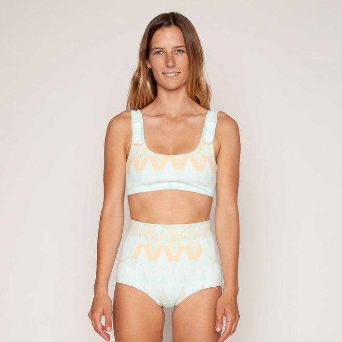Georgia High Waist Bikini Bottom - Alma