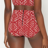 Georgia High Waist Bikini Bottom - Henna