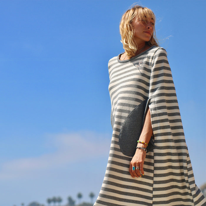Changing Cape - Charcoal Stripe