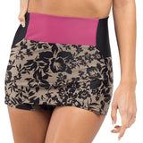 Leucadia Skirted High Waist Bottom - Black Iris